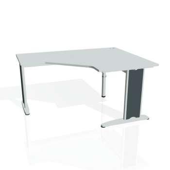 Psací stůl Hobis FLEX FEV 80 levý, šedá/kov