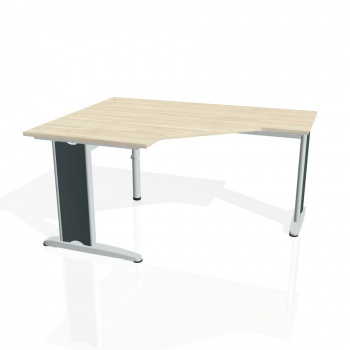 Psací stůl Hobis FLEX FEV 80 pravý, akát/kov
