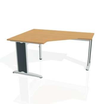 Psací stůl Hobis FLEX FEV 80 pravý, buk/kov