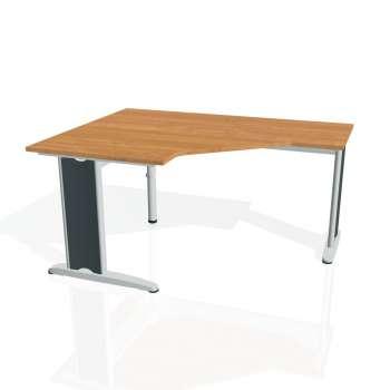 Psací stůl Hobis FLEX FEV 80 pravý, olše/kov