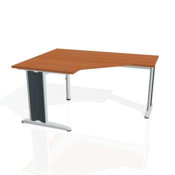 Psací stůl Hobis FLEX FEV 80 pravý, třešeň/kov
