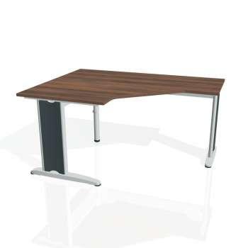 Psací stůl Hobis FLEX FEV 80 pravý, ořech/kov