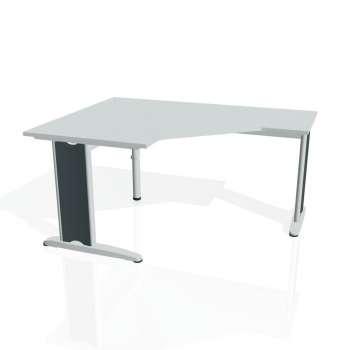 Psací stůl Hobis FLEX FEV 80 pravý, šedá/kov