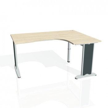 Psací stůl Hobis FLEX FE 2005 levý, akát/kov