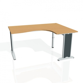 Psací stůl Hobis FLEX FE 2005 levý, buk/kov