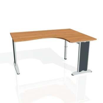 Psací stůl Hobis FLEX FE 2005 levý, olše/kov