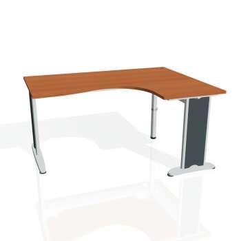 Psací stůl Hobis FLEX FE 2005 levý, třešeň/kov