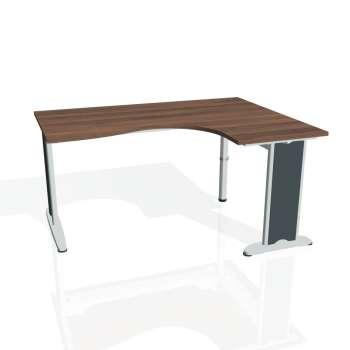 Psací stůl Hobis FLEX FE 2005 levý, ořech/kov