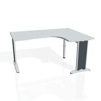Psací stůl Hobis FLEX FE 2005 levý, šedá/kov