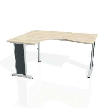 Psací stůl Hobis FLEX FE 2005 pravý, akát/kov