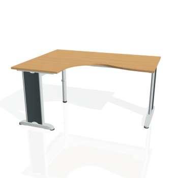 Psací stůl Hobis FLEX FE 2005 pravý, buk/kov