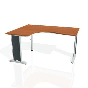 Psací stůl Hobis FLEX FE 2005 pravý, třešeň/kov