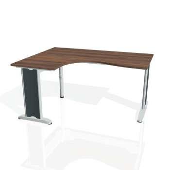 Psací stůl Hobis FLEX FE 2005 pravý, ořech/kov