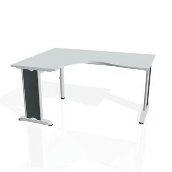 Psací stůl Hobis FLEX FE 2005 pravý, šedá/kov