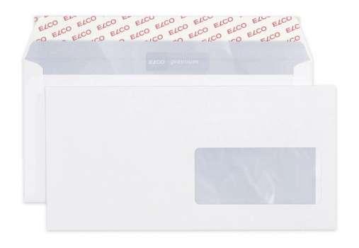 Obálky Elco - C6/5, samolepicí s krycí páskou, s okénkem vpravo, 500 ks