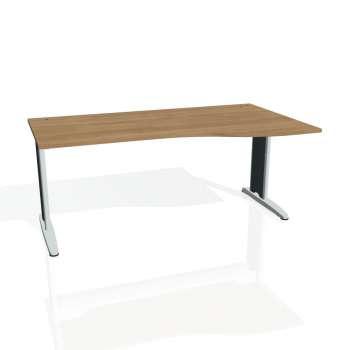 Psací stůl Hobis FLEX FE 1000 levý, višeň/kov