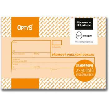 Příjmový pokladní doklad Optys - číslovaný