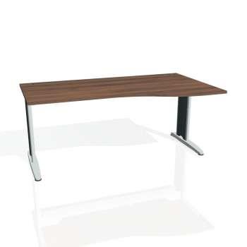 Psací stůl Hobis FLEX FE 1000 levý, ořech/kov