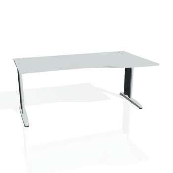 Psací stůl Hobis FLEX FE 1000 levý, šedá/kov