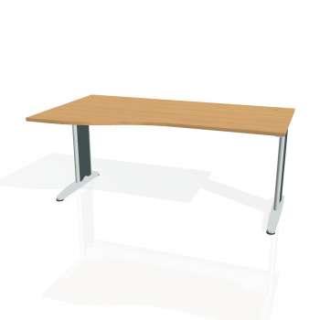 Psací stůl Hobis FLEX FE 1000 pravý, buk/kov