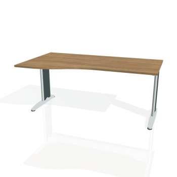 Psací stůl Hobis FLEX FE 1000 pravý, višeň/kov