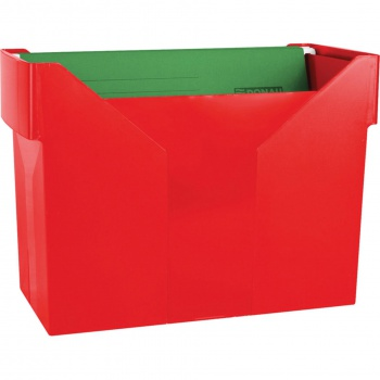 Box na závěsné desky, červená