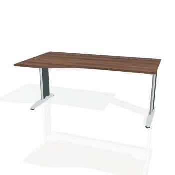 Psací stůl Hobis FLEX FE 1000 pravý, ořech/kov