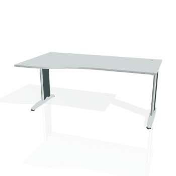 Psací stůl Hobis FLEX FE 1000 pravý, šedá/kov