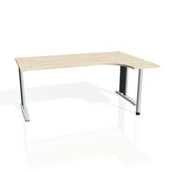 Psací stůl Hobis FLEX FE 1800 levý, akát/kov