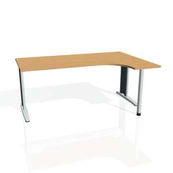 Psací stůl Hobis FLEX FE 1800 levý, buk/kov
