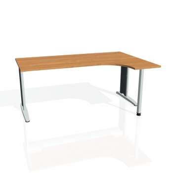 Psací stůl Hobis FLEX FE 1800 levý, olše/kov