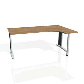 Psací stůl Hobis FLEX FE 1800 levý, višeň/kov