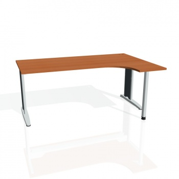 Psací stůl Hobis FLEX FE 1800 levý, třešeň/kov