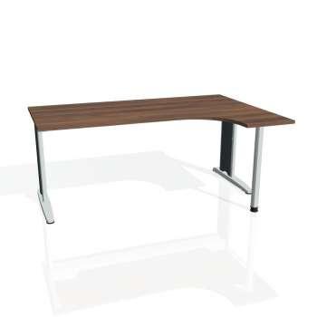 Psací stůl Hobis FLEX FE 1800 levý, ořech/kov