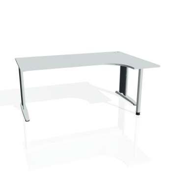 Psací stůl Hobis FLEX FE 1800 levý, šedá/kov