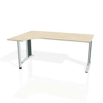 Psací stůl Hobis FLEX FE 1800 pravý, akát/kov