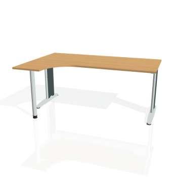 Psací stůl Hobis FLEX FE 1800 pravý, buk/kov
