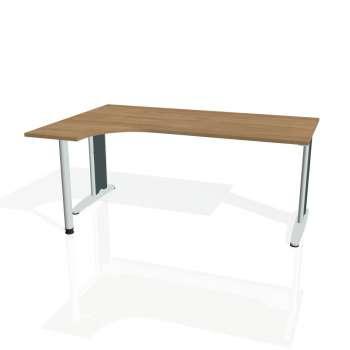 Psací stůl Hobis FLEX FE 1800 pravý, višeň/kov