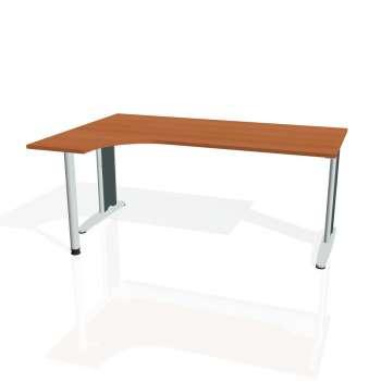 Psací stůl Hobis FLEX FE 1800 pravý, třešeň/kov
