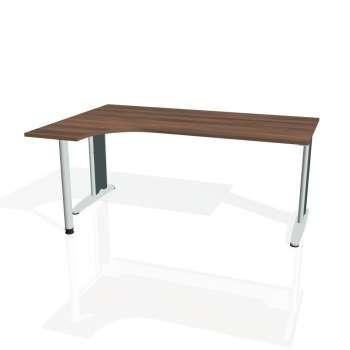 Psací stůl Hobis FLEX FE 1800 pravý, ořech/kov