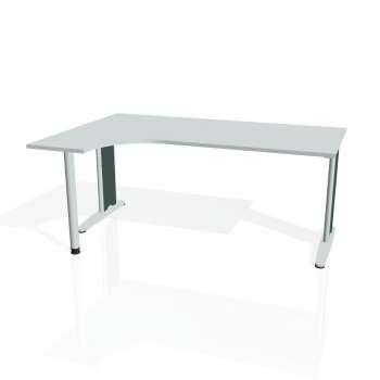 Psací stůl Hobis FLEX FE 1800 pravý, šedá/kov