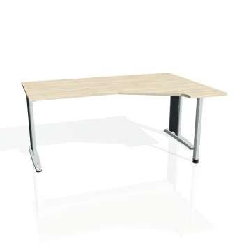 Psací stůl Hobis FLEX FEV 1800 levý, akát/kov