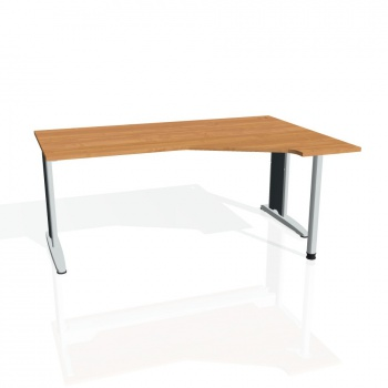 Psací stůl Hobis FLEX FEV 1800 levý, olše/kov