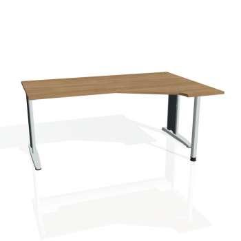 Psací stůl Hobis FLEX FEV 1800 levý, višeň/kov