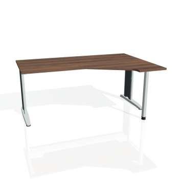 Psací stůl Hobis FLEX FEV 1800 levý, ořech/kov