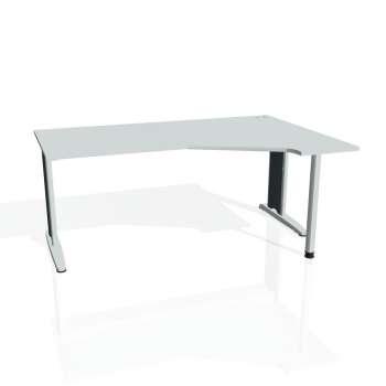 Psací stůl Hobis FLEX FEV 1800 levý, šedá/kov