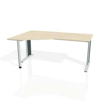 Psací stůl Hobis FLEX FEV 1800 pravý, akát/kov