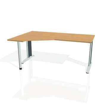 Psací stůl Hobis FLEX FEV 1800 pravý, buk/kov