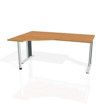 Psací stůl Hobis FLEX FEV 1800 pravý, olše/kov