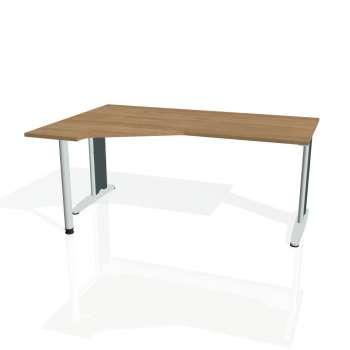 Psací stůl Hobis FLEX FEV 1800 pravý, višeň/kov